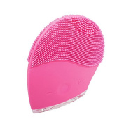 Denshine Electric Soft Silicone Brush Vibration Waterproof Facial Cleansing System
