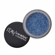 ITAY Mineral Cosmetics 1 Glitter Powder+Mica & Glitter Primer and Bond+Eye Shimmer Brush+ Clear Aeroplane Travel Cosmetic Bag (Bundle of 4 Items)