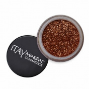 ITAY Mineral Cosmetics 1 Glitter Powder+Mica & Glitter Primer and Bond+Eye Shimmer Brush+ Clear Aeroplane Travel Cosmetic Bag (Bundle of 4 Items)