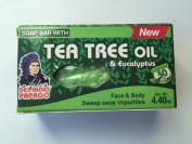 Tee Tree Oil and Eucalyptus Soap Bar, Arbol De Te Y Eucalipto Jabon Del Indio Papago