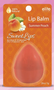 Lip Balm 100% Natural - Summer Peach - Soothes and Moisturises Dry Chapped Lips