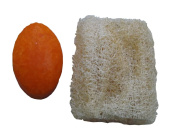 Natural Coconut Oil Soap with Papaya and Loofah Exfoliating Scrub