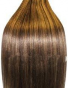 Supermodel - 46cm Col 4/27. Full Head Clip In Human Hair Extensions. High Quality Remy