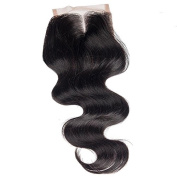 Ohlees® #1b Middle Part Silk Lace Closure 4*4 Brazilian Closure 6a Human Virgin Hair Body Wave