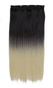 SARLA 60cm 5Clips One Piece 2 Tones Ombre Colour Clip in Hair Extension 130g