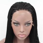 Angelbabyhair Synthetic Braiding Hair Heat Resistant Braided Lace Front Wigs 60cm