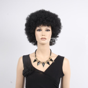 African Afro Wigs For Black Men Or Women Black Colour Hair Wig