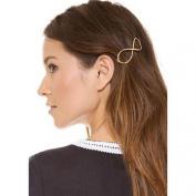 Susenstone® Fashion Women Positive Infinity Gold Barrette Hairpin Hair Clip Headband