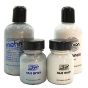 Mehron HAIR SILVER 130ml Professional Washable Theatrical Hair Colour
