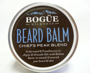 "Bogue Milk Soap, BEARD BALM - ""Chiefs Peak Blend"" Cedarwood, Frankincense, & Rosemary with Argan, Avocado, Vitamin E, Kokum Butter & Bees Wax to Smooth and Nourish Your Beard and Skin. 50ml"
