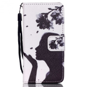 Urberry Ipod Touch 5/ Touch 6 Case, Shock-proof Wallet Case for Touch 5/ Touch 6, Mysterious Girl Case with a Free Stylus