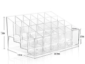 Black Friday Clear Acrylic Trapezoid 24 Lattices Lipsticks 14.5*9.5*7.3cm Cosmetic Perfume Organiser Display Holder Storage Shelf