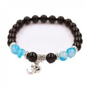 Sankuwen Women Men Elastic Charm Beaded Bracelets Gift