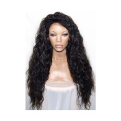 PlatinumHair 180%heavy density synthetic lace front wig heat resistant black body wave wig26""