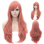 "26"" 65cm Heat Resistant Cosplay Wig Long Curly Synthetic Hair Women Fashion Party Wig"