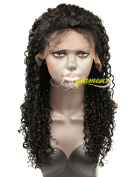 Riglamour 100% Brazilian Human Hair Curly Remy Wigs Lace Front for Black Women Natural Hairline 180% Density