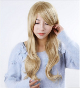 Worldflying@stylish Curly Hair Pad Light Blonde Wig Cospaly 70cm Young Long Synthetic Hair Perruque Peluca Feminina Peruca Lolita