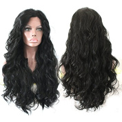 Platinumhair Synthetic Lace Front Wig Heat Resistant heavy density black body wavy Wig for Black Women 70cm