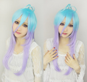 Cf-fashion Comet Lucifer Blue Mix Purple Cosplay Wig Party Wig
