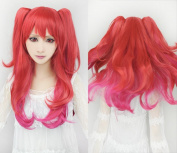 Cf-fashion Stella Vermillion Red Mix Clip on Ponytails Cosplay Wig