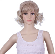 Diforbeauty Short Synthetic Hair Messy Curly Ponytail Heat Resistant Wig Natural As Real Hair for Cosplay