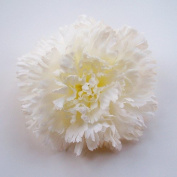 Carnation Artificial Hair Clip/Pin Brooch