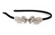 YESHINE Rhinestone and Crystal Decor Butterfly Metal Headband , Hairband for Bridal Tiara