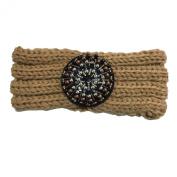 Wiipu Rhinestone Knit Headband Embellished Ear Warmers Winter Headwrap