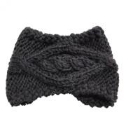 Wiipu Knit Hair Band Crochet Winter Warm Hairband Headwrap