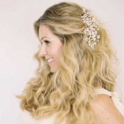 Venusvi Vintage Wedding Hair Combs with Bead and Alloy - Bridal Headpiece for Bridesmaids