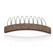 DoubleAccent Hair Jewellery Brown Cellulose Based Simulated Crystal Hair Comb,