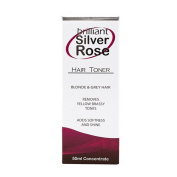 Brilliant Silver ROSE Hair Toner Blonde & Grey Hair It Works Like Magic 50 Ml Bottle