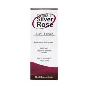 Brilliant Silver ROSE Hair Toner Blonde & Grey Hair It Works Like Magic 50 Ml Bottle