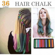 12 Colours Non-toxic Temporary Hair Chalk Dye Soft Pastels Salon Kit Show Party
