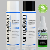 Amplixin Hair Loss Stimulating Shampoo & Revitalising Conditioner With Intensive Hair Growth Serum Bundle - Trusted Hair Treatment Against Thinning Hair, Receding Hairline & Bladness - 3 Month Supply