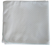 Kissy Kissy Baby Dots Blanket-White with Mint Dots-One Size