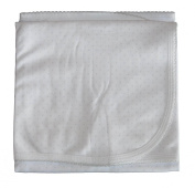 Kissy Kissy Baby Dots Blanket-White with Silver Dots-One Size