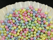 30pcs Czech Beads with a Pearl Coating Estrela Round 4mm Baby Mix Pastel