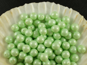 30pcs Czech Beads with a Pearl Coating Estrela Round 8mm Baby Green Pastel