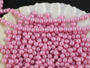 100pcs Czech Beads with a Pearl Coating Estrela Round 4mm Baby Pink Pastel