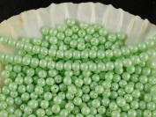 100pcs Czech Beads with a Pearl Coating Estrela Round 4mm Baby Green Pastel