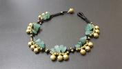 Jingling Bohemian Jade Brass Bell Anklet