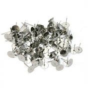 ETHAHE 6mm Silver Earring Clasps 100Pcs