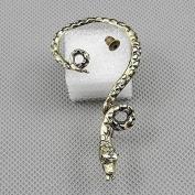 2 Pieces Earrings Ear Earring Supplies Hooks Stud Cuff Clip Punk XF094B Left Side Snake
