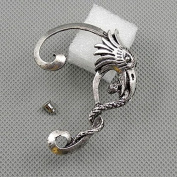 1 Pieces Earrings Ear Earring Supplies Hooks Stud Cuff Clip Punk XF095A Left Side Eagle