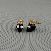2 Pairs Earrings Ear Earring Supplies Hooks Stud Cuff Clip Punk XJ0168 Skull
