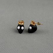 2 Pairs Earrings Ear Earring Supplies Hooks Stud Cuff Clip Punk XJ0168 Skull