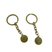 10 PCS Keyrings Keychains Key Ring Chains Tags Jewellery Findings Clasps Buckles Supplies U1QR1 Cancer