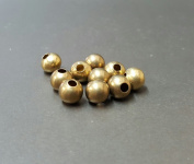 8 MM Metal Round Brass Bead Jewellery Making