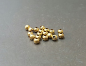 4 MM Metal Round Brass Bead Jewellery Making